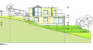 Zeichnung zum Bauantrag